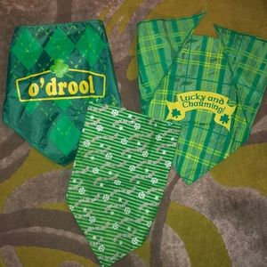 Other - Dog bandanas-(1)Christmas and (2)St. Patrick's Day